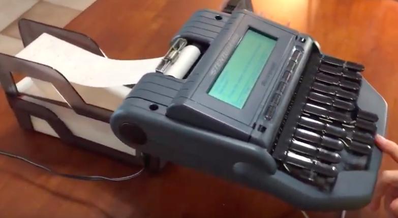 steno-machine